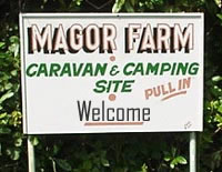 Magor Farm Caravan and Camping Site.  Tehidy, Cornwall.